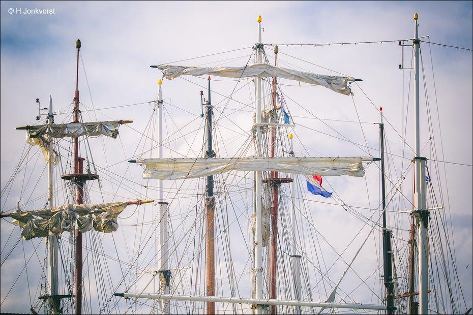 Sail Kampen 2018, Sail Kampen, Sail Kampen tall ships, Sail Kampen historische schepen, historische driemaster, hoge masten, Kraaiennest zeilschip, Kraaiennest, Fotografie, Foto, Photo