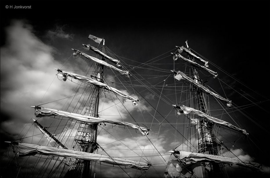 Sail Kampen 2018, Sail Kampen, Sail Kampen tall ships, Sail Kampen historische schepen, hoge masten, dreigende masten, Kraaiennest zeilschip, Kraaiennest, Fotografie, Foto, Photo