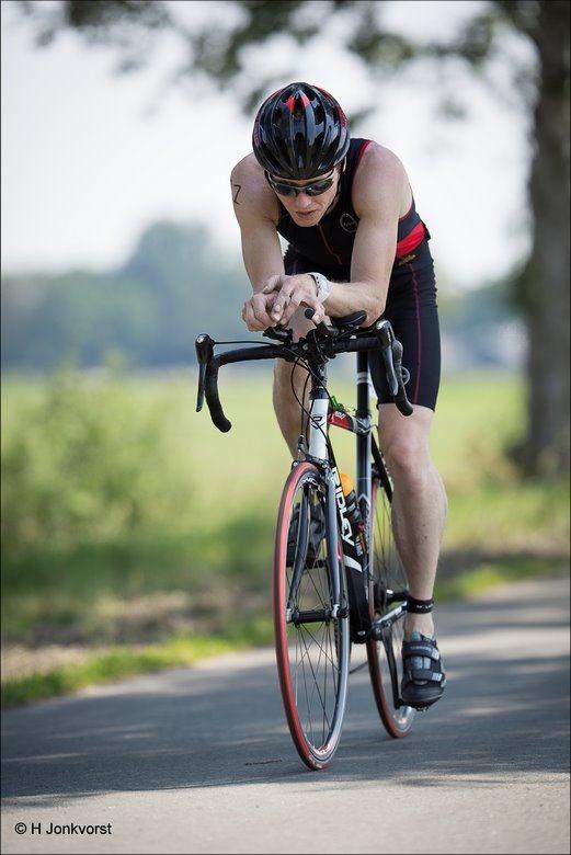 Triathlon Staphorst, Triatlon Staphorst, Triathlon Staphorst 2018, Triatlon Staphorst 2018, kwart triathlon, 40 km fietsen, Triathlon fietsen, Staphorst, Sport, Fotografie, Foto