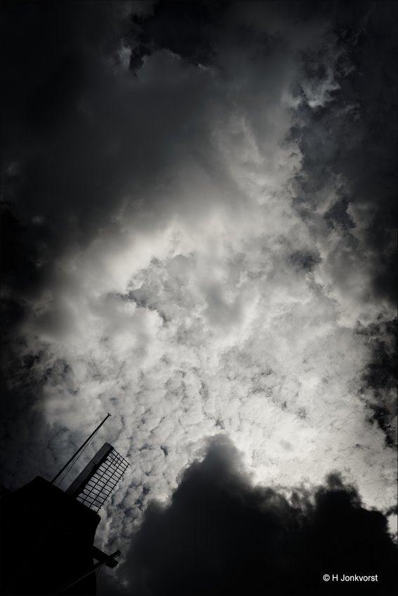Wiek, Molenwiek, Westermolen, Westermolen Dalfsen, Dreigende Lucht, Dreigende Wolk, Dreigende Wolken, Landschap, Fotografie, Foto