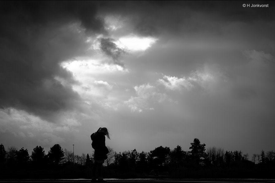 Als ik kon schilderen, dreigend firmament, hemels licht, Dreigende Lucht, Dreigende Wolken, landschap in zwartwit, landschap, Fujifilm XT2, Fujinon XF 16-55mm F2.8 R Lm Wr, Fotografie, Foto, Wendy