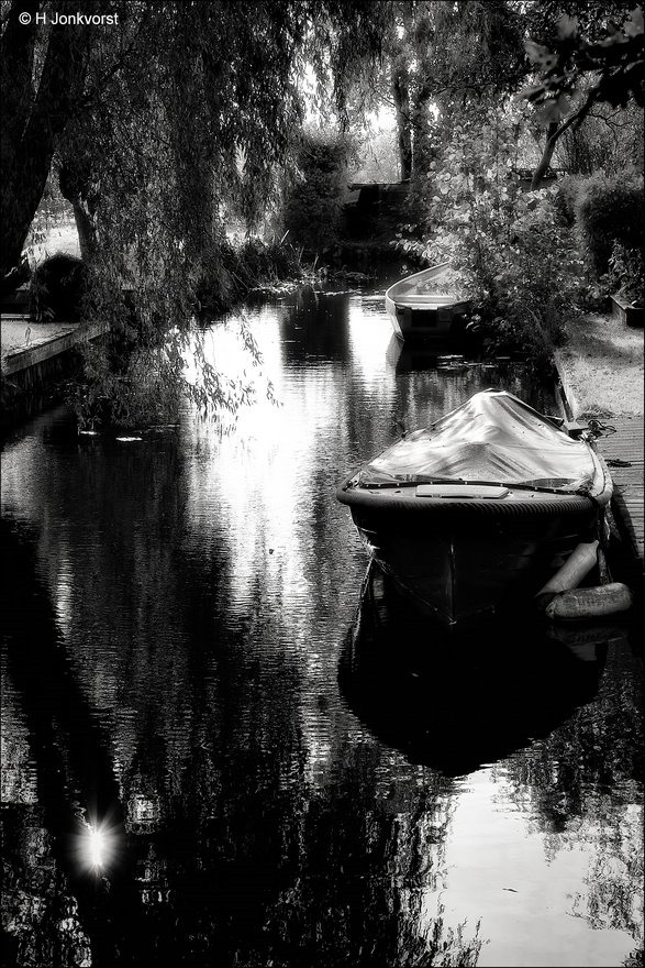 Belt Schutsloot, Wieden, sloep. sloepje, zijslootje, Zwart Wit bewerking, Zwart Wit Fotografie, Landschap, Fujifilm XT2, Fujinon XF 16-55mm F2.8 R Lm Wr, Fotografie, Foto