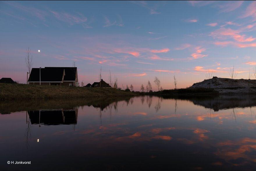 zonsondergang Staphorst, Zonsondergang Fotograferen, Zonsondergang op het water, Staphorst de Slagen, Staphorst, Fujifilm XT2, Fujinon XF 16-55mm F2.8 R Lm Wr, Fotografie, Foto