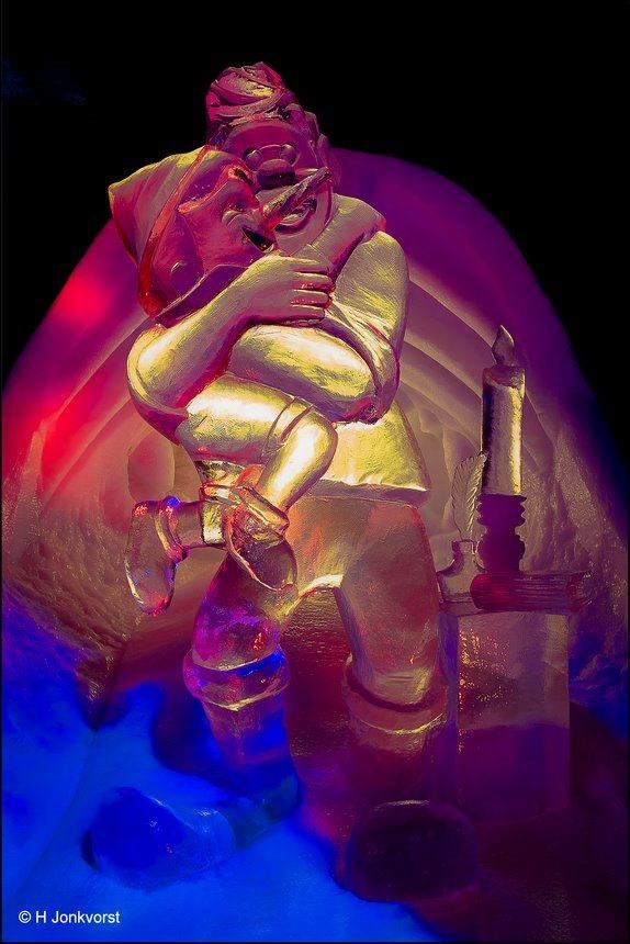 ijsbeelden festival Zwolle, ijsbeelden festival Zwolle 2018 2019, IJsbeelden Zwolle, IJsbeeldenfestival, Ijssculpturen, ijssculpturen Zwolle, Ijssculptuur, Pinokkio, vader Gepetto, Fujifilm XT2, Fotografie, Foto