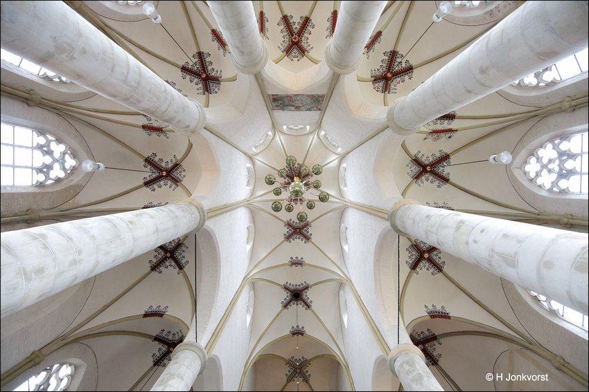 pilaren, staanders, Hoogtegevoel, symmetrie, fotograferen in kerken, dieptewerking, Nekkraker, Fotografie, Foto