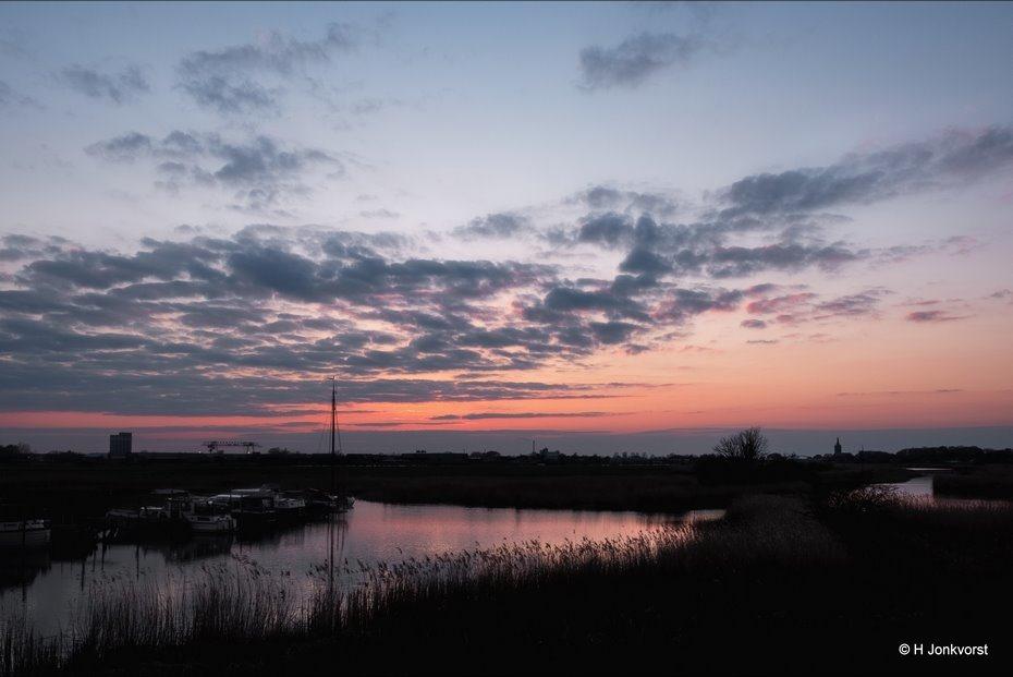 Jachthaven, Jachthaventje, Natuurgebied de Brommerd, zonsondergang, sfeervol avondlicht, sunset, Landschap, Landschapsfotografie, Fujifilm XT2, Fujifilm XF 16-55mm F2.8 R Lm Wr, Fotografie, Foto