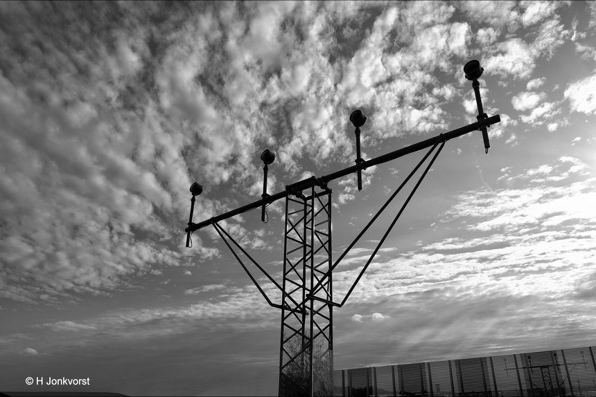 Lelystad Airport, Luchthaven Lelystad, Trainingsvliegveld, Uitbreiding Lelystad Airport, approach lighting system, naderingsverlichtingssysteem, A.L.S., aanvliegroute landingsbaan, lichtbalk, aanvliegbaken, Fujifilm XT2
