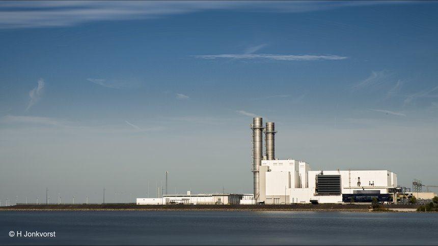 Maxima centrale, Maximacentrale, energiecentrale, energiecentrale Lelystad, aardgasgestookt, aardgasgestookte energiecentrale, electriciteitscentrale, IJsselmeer, schone energie, opbrengst windmolens, rendement windmolens