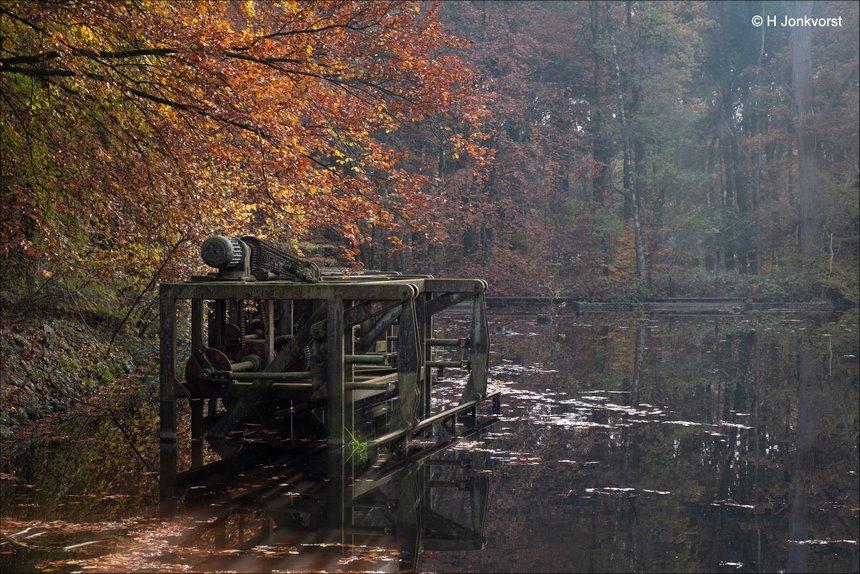 rust roest, golfslagmachine, storm in een glas water, afgedaan, schaalmodellen van deltawerken, waterloopbos, waterloopbos bij herfst, waterloopbos Marknesse, Fujifilm XF 16-55mm F2.8 R Lm Wr, Fujifilm XT2, Fotografie