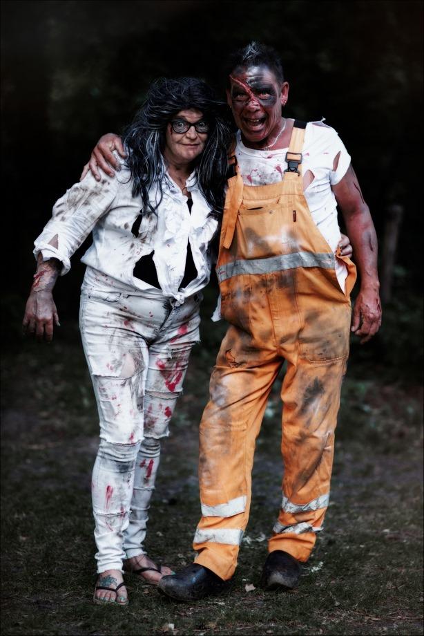 Thriller, the walking dead, horror portret, horror portrait, zombie, Bram, Yvonne, portret, Camping Libra, playbackshow, Canon eos R, Canon EF 85mm f1.2L II USM, Fotografie, Foto, Photography,